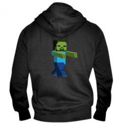 Мужская толстовка на молнии Зомби Minecraft - FatLine