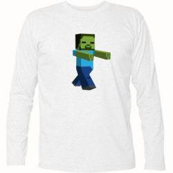 Футболка с длинным рукавом Зомби Minecraft - FatLine