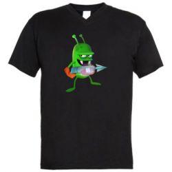 Мужская футболка  с V-образным вырезом Zombie catchers
