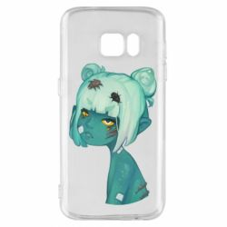 Чохол для Samsung S7 Zombie girl with beetles