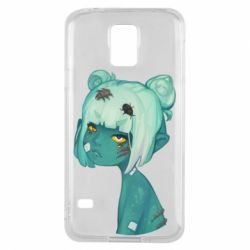 Чохол для Samsung S5 Zombie girl with beetles