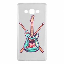 Чехол для Samsung A7 2015 Zombie Guitar with Drum Sticks - FatLine