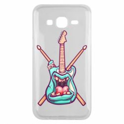 Чехол для Samsung J5 2015 Zombie Guitar with Drum Sticks - FatLine