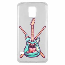 Чехол для Samsung S5 Zombie Guitar with Drum Sticks - FatLine