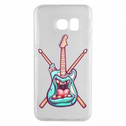 Чехол для Samsung S6 EDGE Zombie Guitar with Drum Sticks - FatLine