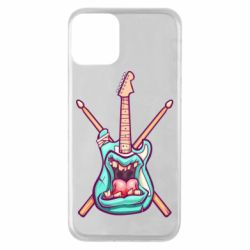 Чехол для iPhone 11 Zombie Guitar with Drum Sticks - FatLine