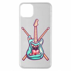 Чехол для iPhone 11 Pro Max Zombie Guitar with Drum Sticks - FatLine