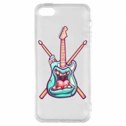 Чехол для iPhone5/5S/SE Zombie Guitar with Drum Sticks - FatLine