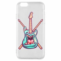 Чехол для iPhone 6/6S Zombie Guitar with Drum Sticks - FatLine