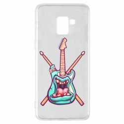 Чехол для Samsung A8+ 2018 Zombie Guitar with Drum Sticks - FatLine