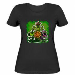 Женская футболка Zombie vs Plants players