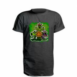 Удлиненная футболка Zombie vs Plants players