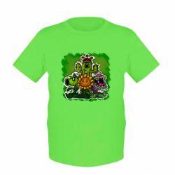 Детская футболка Zombie vs Plants players