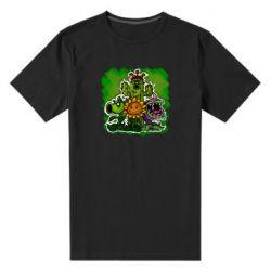 Мужская стрейчевая футболка Zombie vs Plants players
