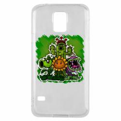 Чехол для Samsung S5 Zombie vs Plants players
