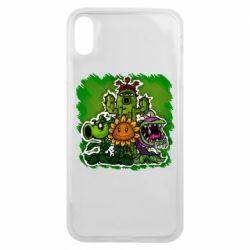 Чехол для iPhone Xs Max Zombie vs Plants players