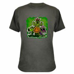 Камуфляжная футболка Zombie vs Plants players