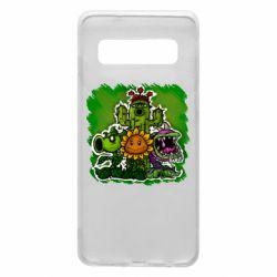 Чехол для Samsung S10 Zombie vs Plants players