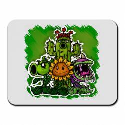 Коврик для мыши Zombie vs Plants players