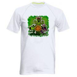 Мужская спортивная футболка Zombie vs Plants players