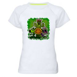 Женская спортивная футболка Zombie vs Plants players
