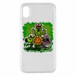 Чехол для iPhone X/Xs Zombie vs Plants players