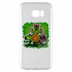 Чехол для Samsung S7 EDGE Zombie vs Plants players
