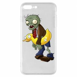 Чехол для iPhone 8 Plus Zombie with a duck