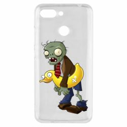Чехол для Xiaomi Redmi 6 Zombie with a duck
