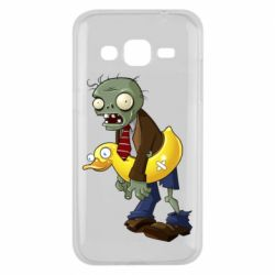Чехол для Samsung J2 2015 Zombie with a duck