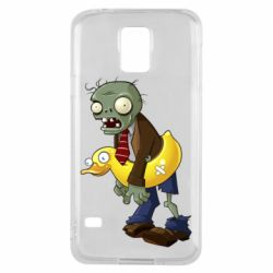 Чехол для Samsung S5 Zombie with a duck
