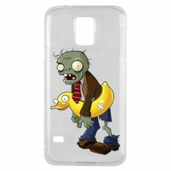 Чохол для Samsung S5 Zombie with a duck