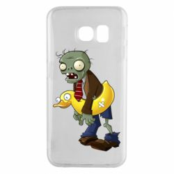 Чехол для Samsung S6 EDGE Zombie with a duck
