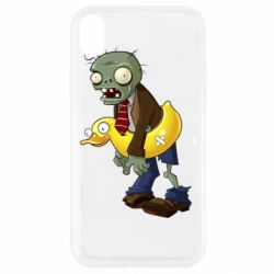 Чехол для iPhone XR Zombie with a duck