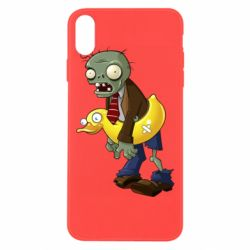 Чехол для iPhone Xs Max Zombie with a duck