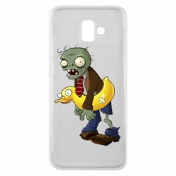 Чехол для Samsung J6 Plus 2018 Zombie with a duck