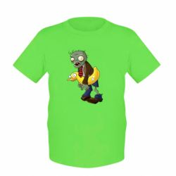 Дитяча футболка Zombie with a duck
