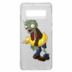 Чехол для Samsung S10+ Zombie with a duck