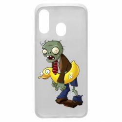 Чехол для Samsung A40 Zombie with a duck