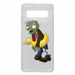 Чехол для Samsung S10 Zombie with a duck