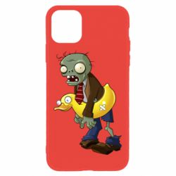 Чехол для iPhone 11 Zombie with a duck
