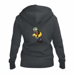 Жіноча толстовка на блискавці Zombie with a duck