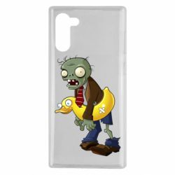 Чехол для Samsung Note 10 Zombie with a duck