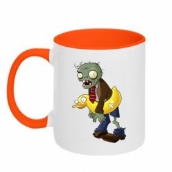 Кружка двоколірна 320ml Zombie with a duck