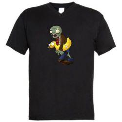 Чоловіча футболка з V-подібним вирізом Zombie with a duck