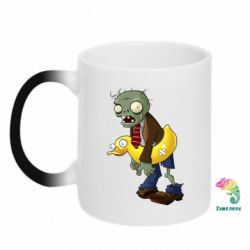 Кружка-хамелеон Zombie with a duck
