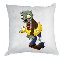 Подушка Zombie with a duck