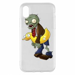 Чехол для iPhone X/Xs Zombie with a duck