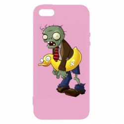 Чохол для iphone 5/5S/SE Zombie with a duck