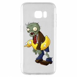 Чехол для Samsung S7 EDGE Zombie with a duck